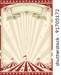vintage circus. a circus... | Shutterstock .eps vector #91705172