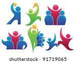 leadership and victory vector... | Shutterstock .eps vector #91719065