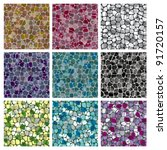 vector set of abstract colorful ... | Shutterstock .eps vector #91720157