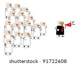 dozens of members follow a... | Shutterstock .eps vector #91722608