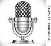 retro microphone vector... | Shutterstock .eps vector #91723463