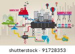 set of city infographics  city... | Shutterstock .eps vector #91728353