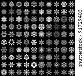 set of vector snowflakes... | Shutterstock .eps vector #91729403