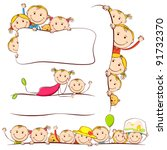 Illustration Of Kids Peeping...