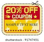 coupon sale   twelve percent... | Shutterstock .eps vector #91747451