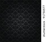seamless charcoal small floral... | Shutterstock .eps vector #91750577