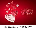 valentine's day love. editable...   Shutterstock .eps vector #91754957