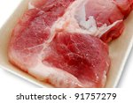 Fresh pork chop - stock photo