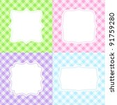 Set Of 4 Cute Cards With...