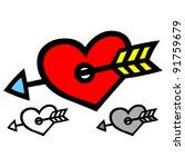 a wonderful valentine gift. | Shutterstock .eps vector #91759679