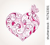 abstract vector heart with... | Shutterstock .eps vector #91762301