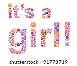 girl birth announcement... | Shutterstock .eps vector #91773719