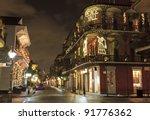 christmas lights on the corner...   Shutterstock . vector #91776362