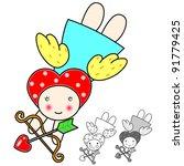 velantine angel   Shutterstock .eps vector #91779425