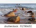 waves and stones in a baltic... | Shutterstock . vector #91780652