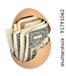 Money In Brown Eggshell