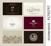 set of 6 detailed business... | Shutterstock .eps vector #91792757