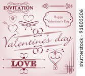 valentine's day decoration | Shutterstock .eps vector #91803206