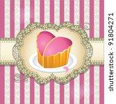 love cake | Shutterstock .eps vector #91804271
