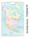 A Map Of North America From...