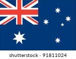australia flag | Shutterstock .eps vector #91811024