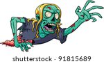 blond,cartoon,character,corpse,crawling,evil,gradient,green,injured,isolated,monster,reaching,undead,vector,woman