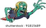 crawling cartoon zombie. vector ...   Shutterstock .eps vector #91815689