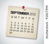 2012 Calendar September Old...