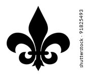 fleur de lis symbol isolated on ... | Shutterstock . vector #91825493