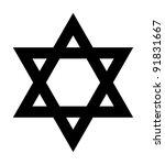 jewish star of david sign in... | Shutterstock . vector #91831667