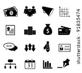 business and finance icon set... | Shutterstock .eps vector #91835474