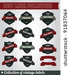 collection of vintage labels | Shutterstock .eps vector #91837064