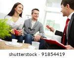 portrait of modern couple... | Shutterstock . vector #91854419