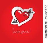 Heart Pierced By An Arrow On A...
