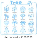 pure series   hand draw tree... | Shutterstock .eps vector #91855979