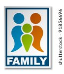 vector family symbol sticker | Shutterstock .eps vector #91856696