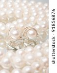 beautiful earrings made of... | Shutterstock . vector #91856876