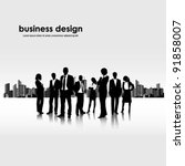 template of a group of business ... | Shutterstock .eps vector #91858007