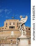details of castel sant' angelo... | Shutterstock . vector #91868396