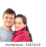 portrait of a cheerful young... | Shutterstock . vector #91873115