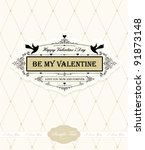 valentine's day greeting card | Shutterstock .eps vector #91873148