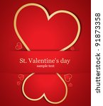 card with nice hearts. vector | Shutterstock .eps vector #91873358
