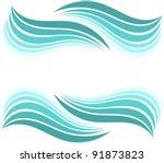water waves border. vector... | Shutterstock .eps vector #91873823