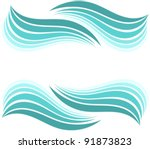 water waves border. vector...