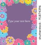 flower border | Shutterstock .eps vector #91874396