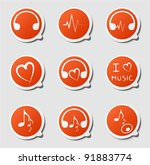 clip art from orange labels on...