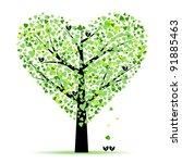 Valentine Tree With Hearts...