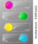 glass framework set. vector... | Shutterstock .eps vector #91891661