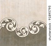 vintage scroll engraving... | Shutterstock .eps vector #91895795