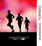 sport vector illustration | Shutterstock .eps vector #91898852